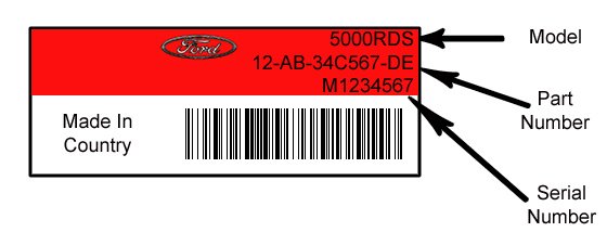 Ford Radio Code Serial Number Location